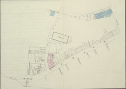 [Plan of the property sold for the improvement of the Strand and Chandos Street]